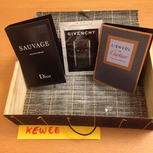 Echantillons de parfums pour hommes (Givenchy, Dior, Cartier)